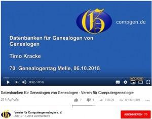 Vortrag über CompGen-Datenbanken live übertragen