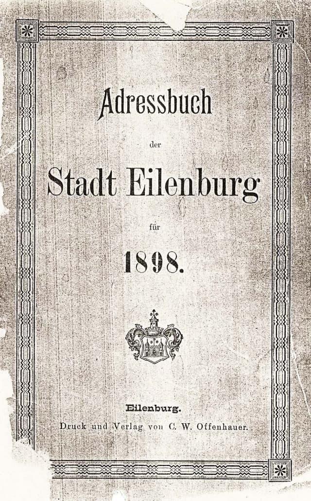 Adressbücher von Eilenburg
