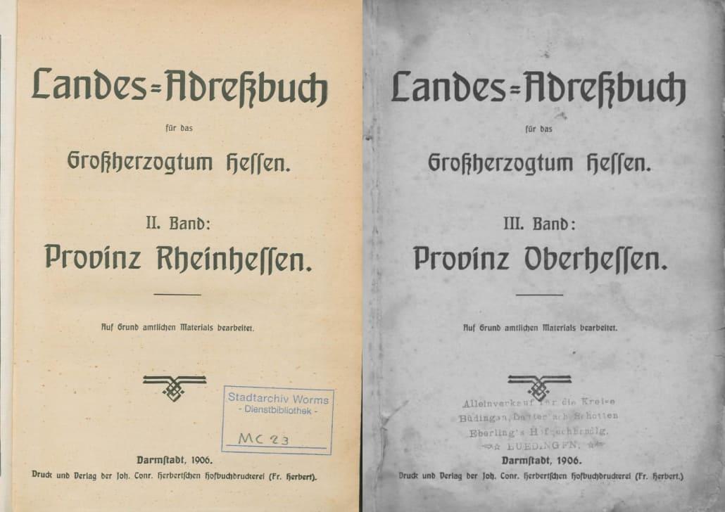 Landes-Adressbuch für das Großherzogtum Hessen 1906