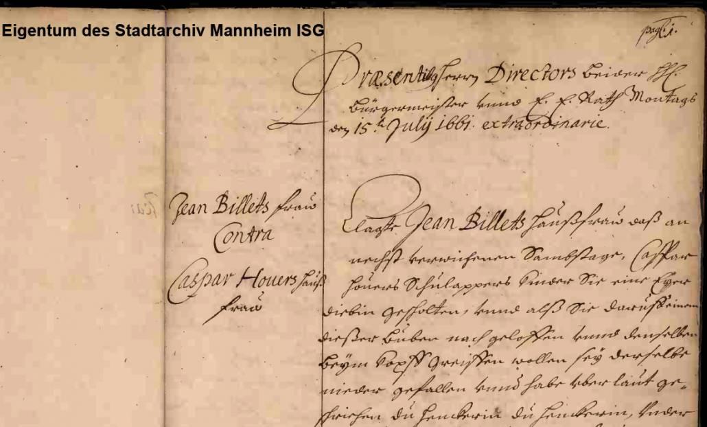 Amtsbücher von Karlsruhe und Mannheim