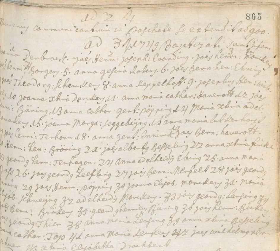 """""""Status Animarum"""" für 1749/50 für St. Remigius Borken gesucht"""