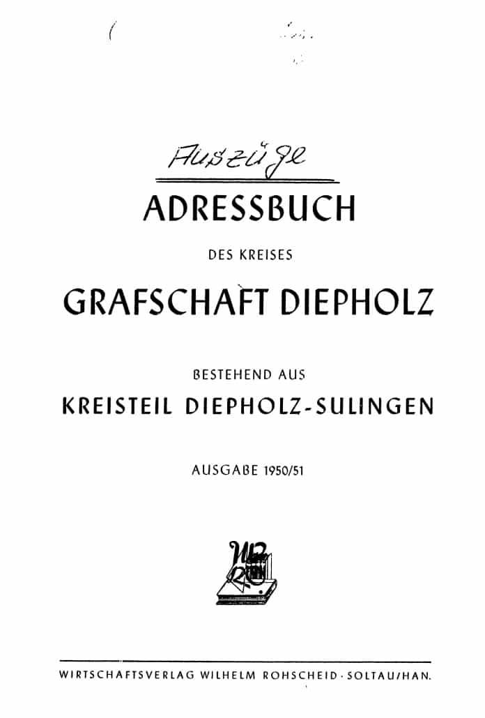 Adressbücher des Kreises Diepholz