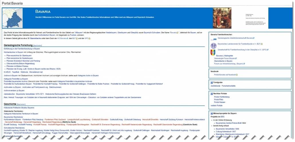 Das Portal:Bavaria im GenWiki ist Themenschwerpunkt bei einem Vortrag am 13. September in Hirblingen