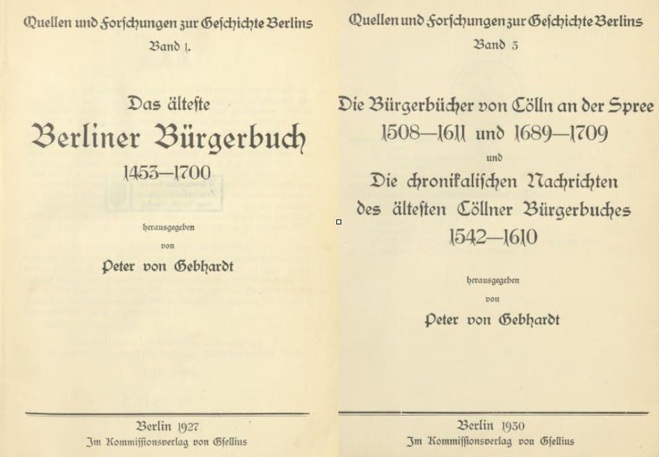 Berliner Bürgerbücher digital