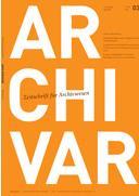 Die (archivische) Forschungslandschaft in Thüringen. Zum ARCHIVAR 3/2019