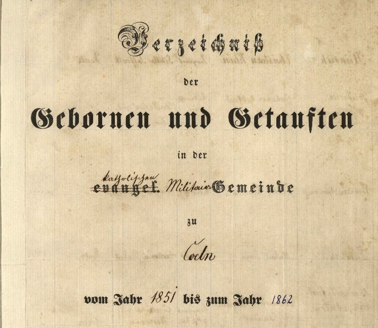 Es geht los: Die katholischen Militärkirchenbücher des Standorts Köln können erfasst werden