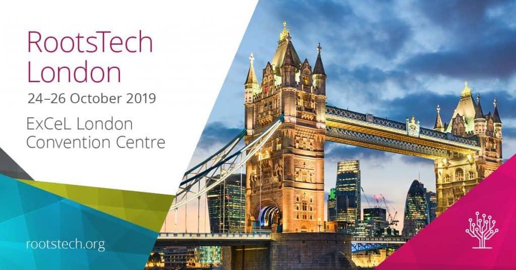 Per Livestream an der ROOTSTECH 2019 in London teilnehmen