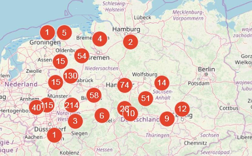 Kirchenbuch-Digitalisate deutscher Bistümer bei Matricula-Online