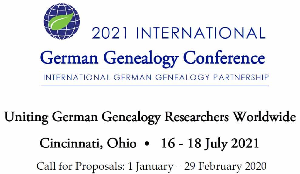 2021 International German Genealogy Conference in Cincinnati