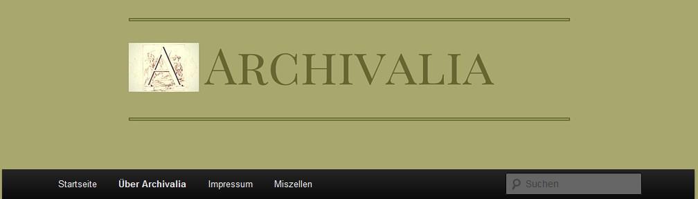 "Blogs kurz vorgestellt: ""Archivalia"""