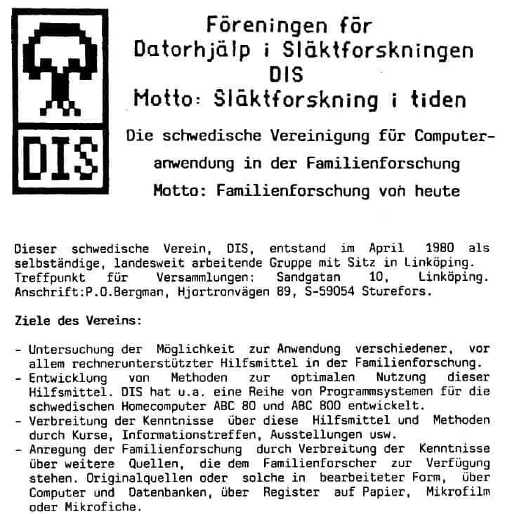 40 Jahre Computergenealogie in Schweden