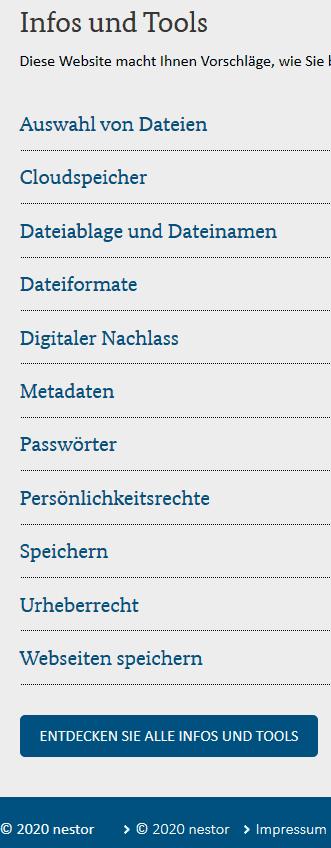 Persönliche digitale Unterlagen bis hin zum (genealogischen) Nachlass: Handreichungen einer nestor-Arbeitsgruppe online