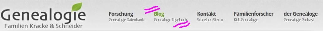 "Blogs vorgestellt: Timo Krackes ""Genealogie Tagebuch"""