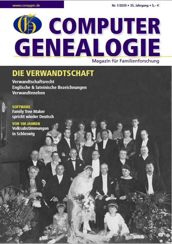 COMPUTERGENEALOGIE, Heft 01/2020