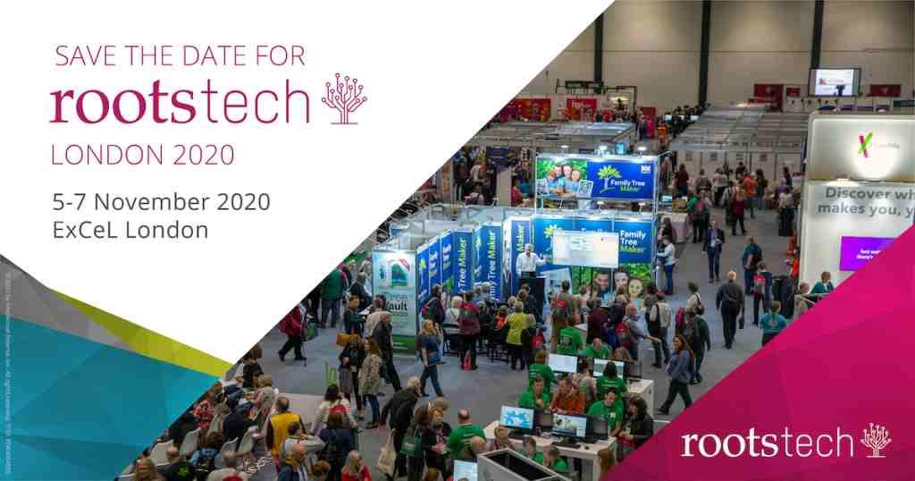 RootsTech 2020 kommt wieder nach London
