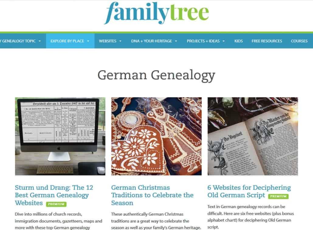"""Tipps zur Familienforschung in Deutschland vom """"familytree"""" Magazin"""