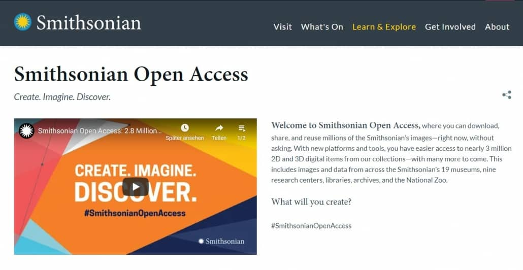 "Bilddatenbank ""Smithsonian Open Access"""