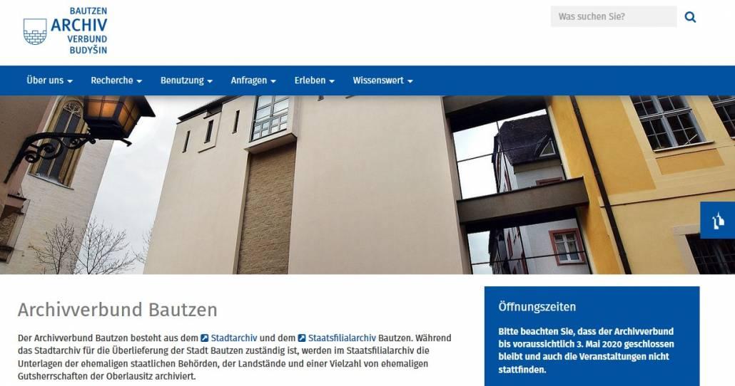 Stadtarchiv Bautzen und Findbuch.net: Nutzung einfach erklärt