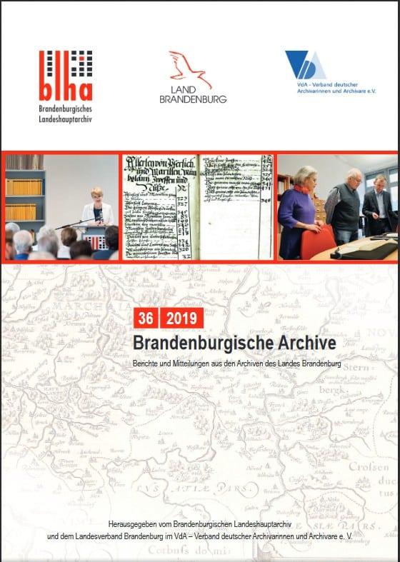 Brandenburgische Archive, Heft 36/2019