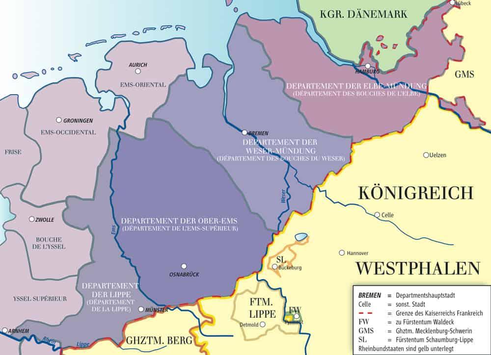 Zivilstandsregister 1808/10-1814 in Nordwestdeutschland