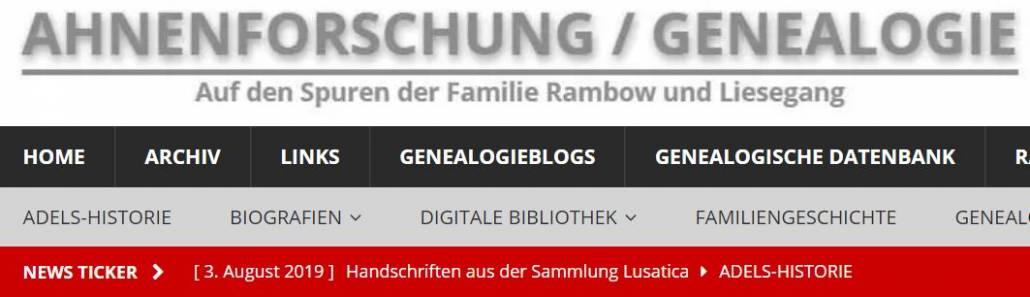 Blogs kurz vorgestellt: Ahnenforschung / Genealogie