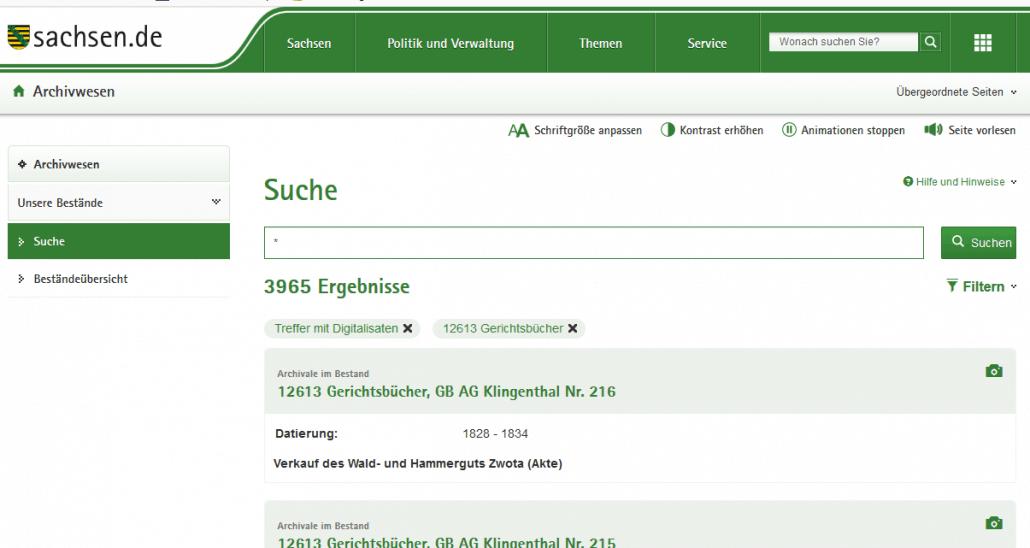 1,6 Million Digitalisate von sächsischen Gerichtsbüchern online!