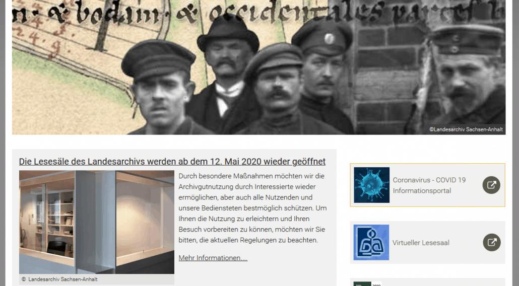 Landesarchiv Sachsen-Anhalt wieder geöffnet