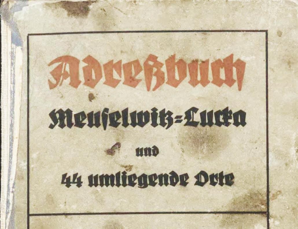 Neues von alten Adressbüchern