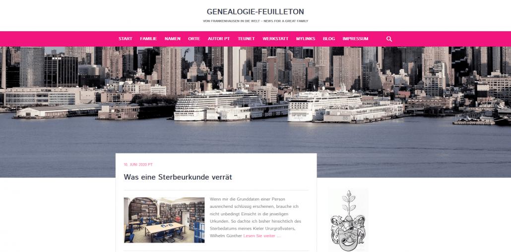 Blogs kurz vorgestellt: Genealogie-Feuilleton - von Frankenhausen in die Welt