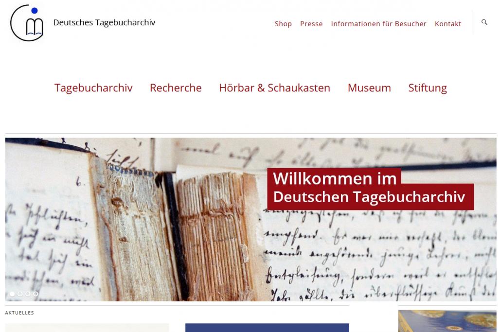 Mitten im Leben: Das Deutsche Tagebucharchiv in Emmendingen