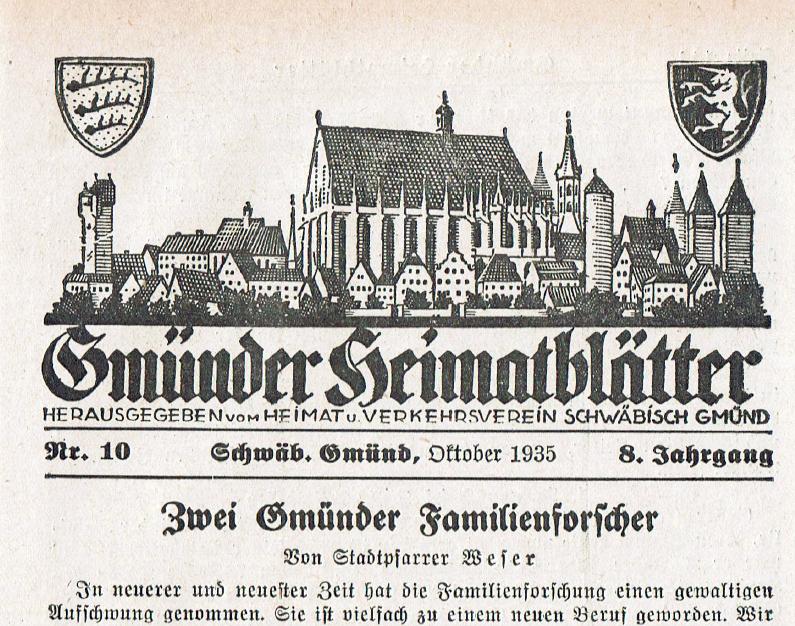Katholische Kirchenbücher von Schwäbisch Gmünd