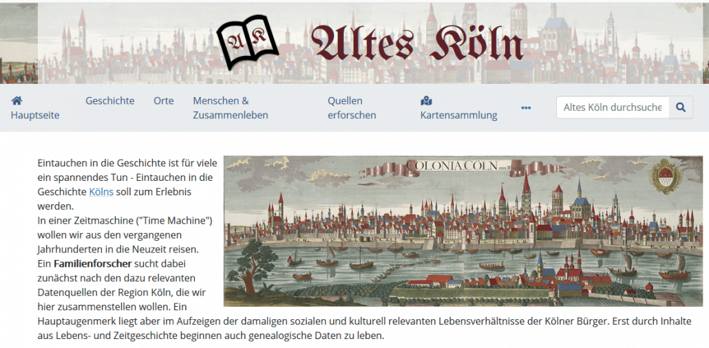 """""""Altes Köln"""". Oder: Time Machine Cologne!"""