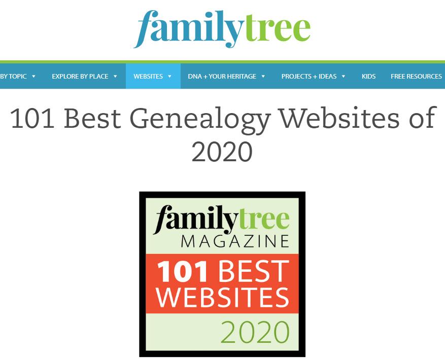 101 Beste Genealogie-Seiten