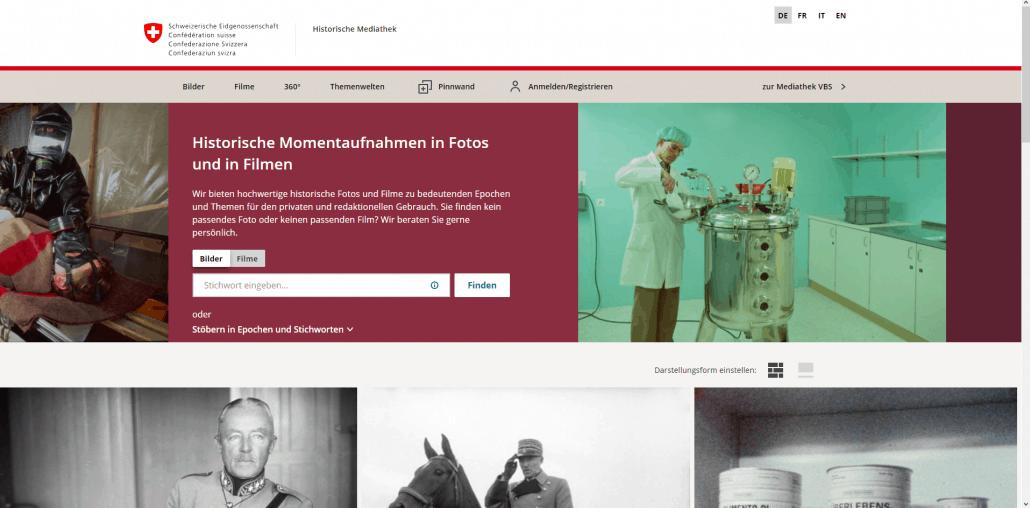 Historische Mediathek der Schweizerischen Eidgenossenschaft