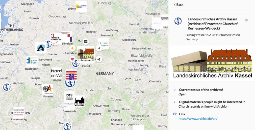 Evangelische Kirchenbücher aus Kurhessen-Waldeck online bei Archion