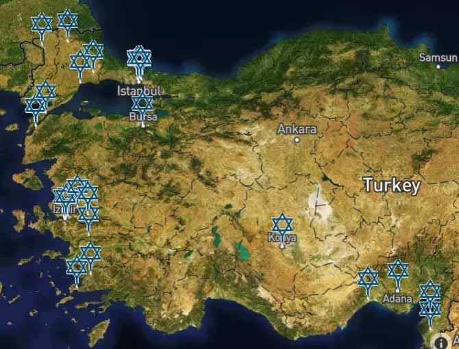 Jüdische Friedhöfe in der Türkei