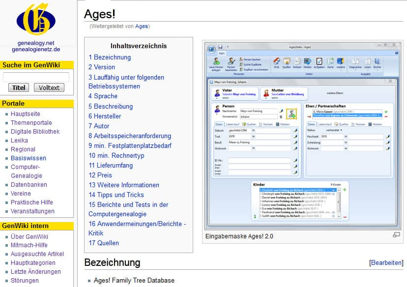 BLF-Online-Vorstellung der Genealogie-Software Ages!