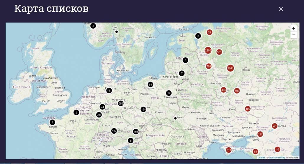 Suche nach Ostarbeitern in russischsprachigen Datenbanken