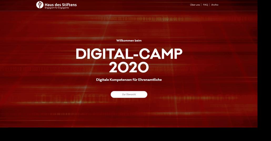 DIGITAL-CAMP 2020 - 10 Online Seminare für Ehrenamtliche