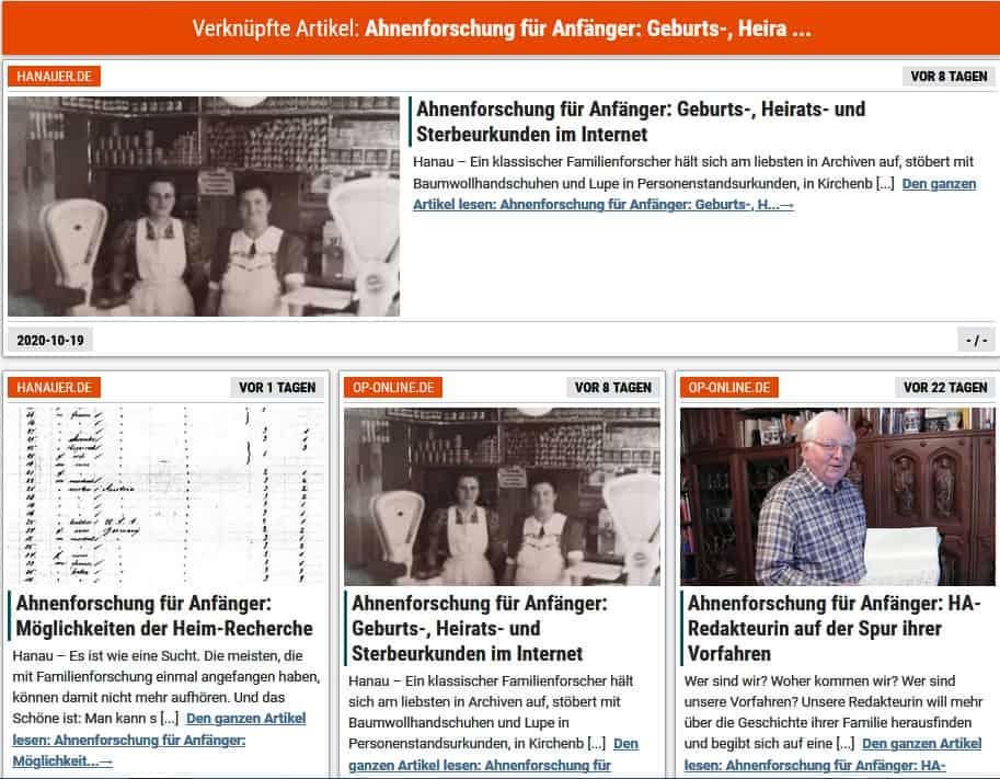 Hanauer Anzeiger: Ahnenforschung für Anfänger