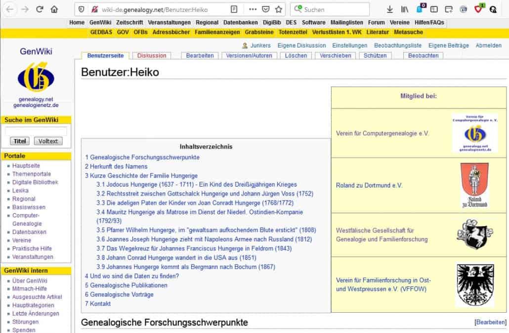 Wie erstelle ich eine genealogische Visitenkarte im GenWiki?