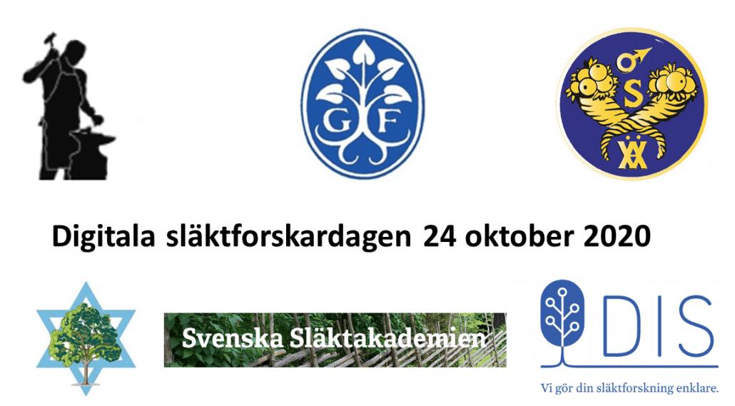 Schwedischer Genealogentag digital am 24. Oktober 2020