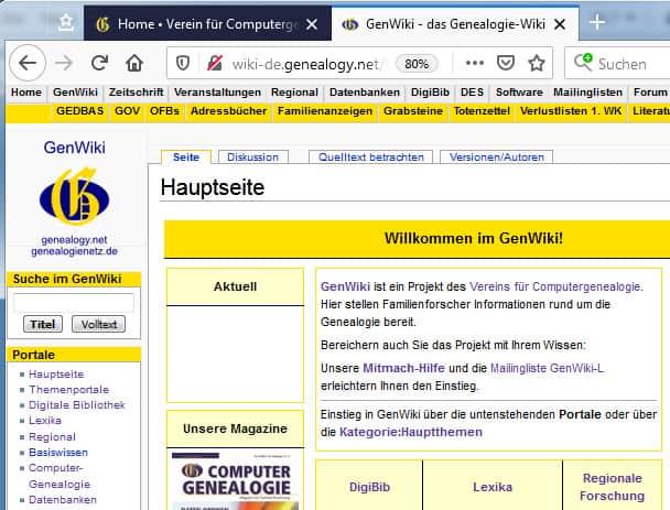 Einladung zum Onlinetreff – Was bietet das GenWiki – und wie finde ich mich darin zurecht?