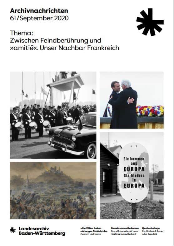 Aktuelles Heft der Archivnachrichten des Landesarchivs Baden-Württemberg (Nr. 61)