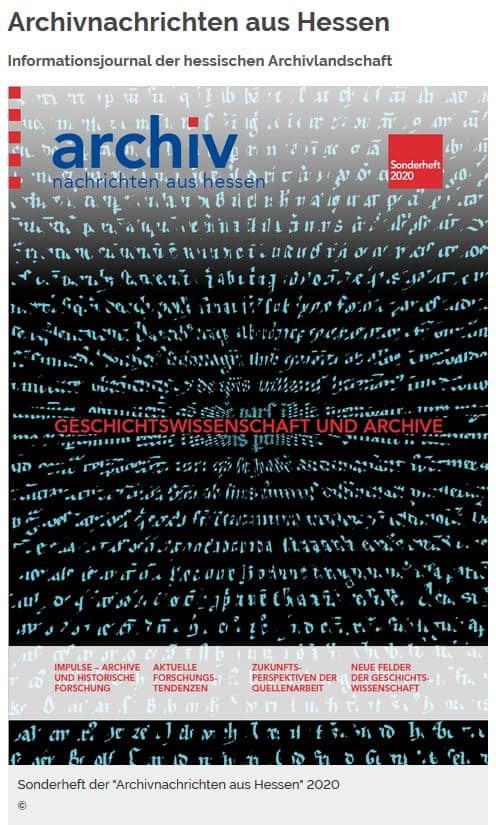Archivnachrichten aus Hessen, Sonderheft 2020