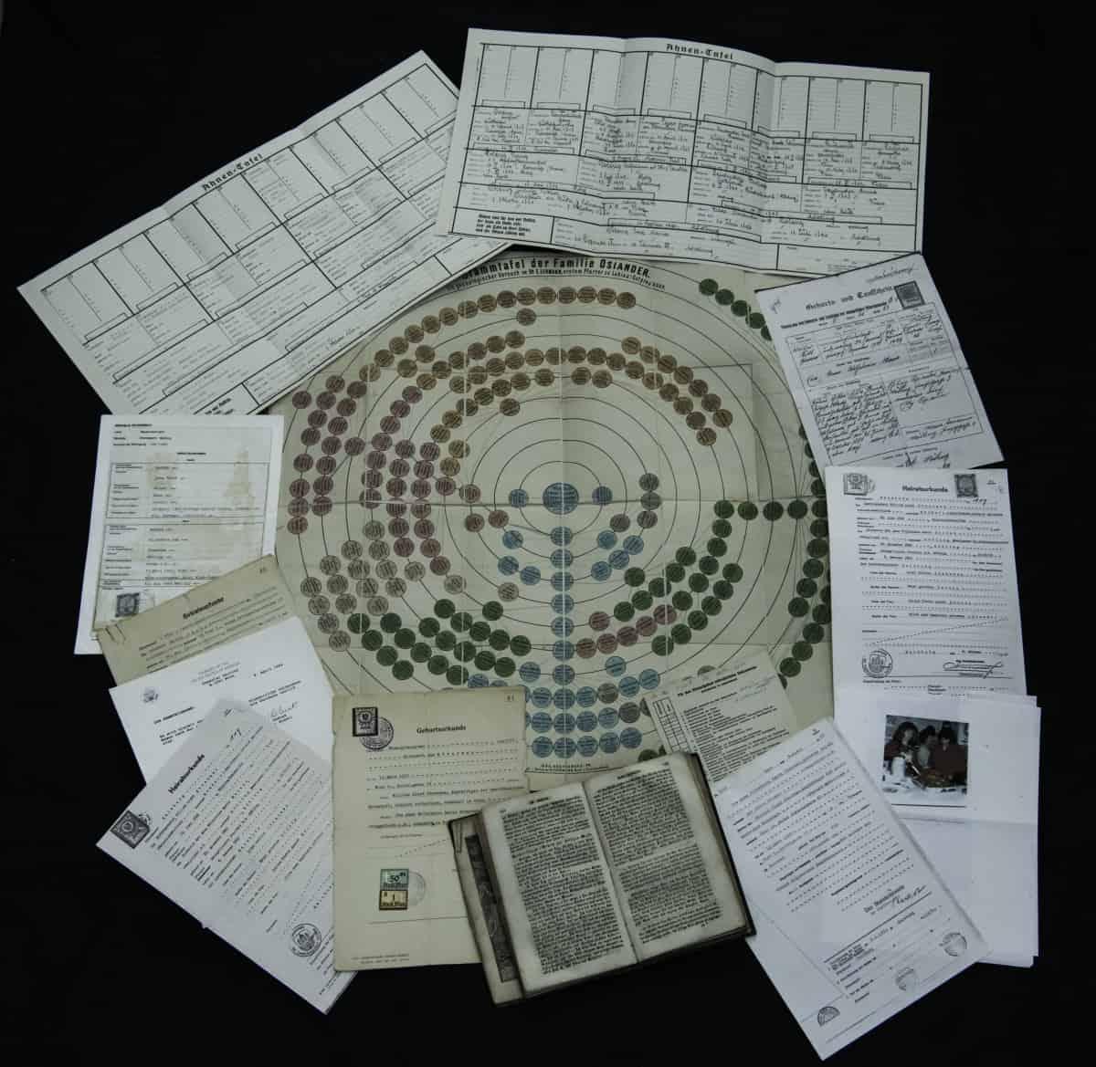 "Ein Nachlass aus Amerika: ""Some genealogical documents..."""