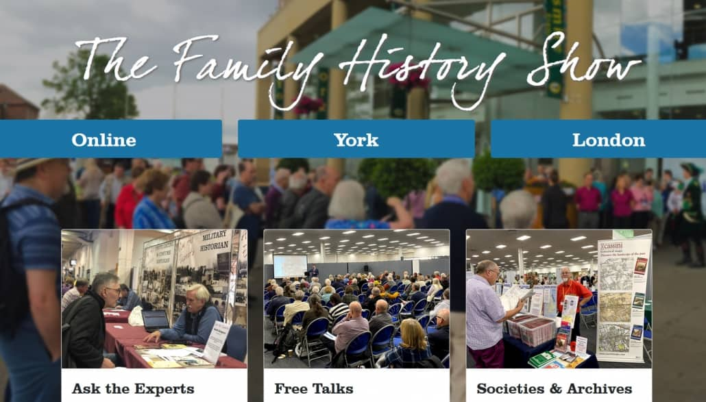 The Family History Show findet online am 26. September 2020 statt
