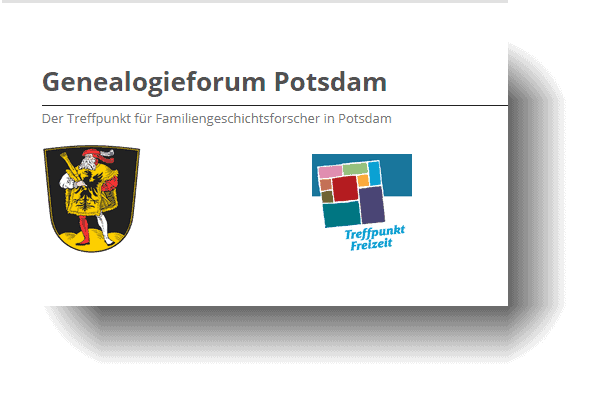 Das Genealogieforum Potsdam Online