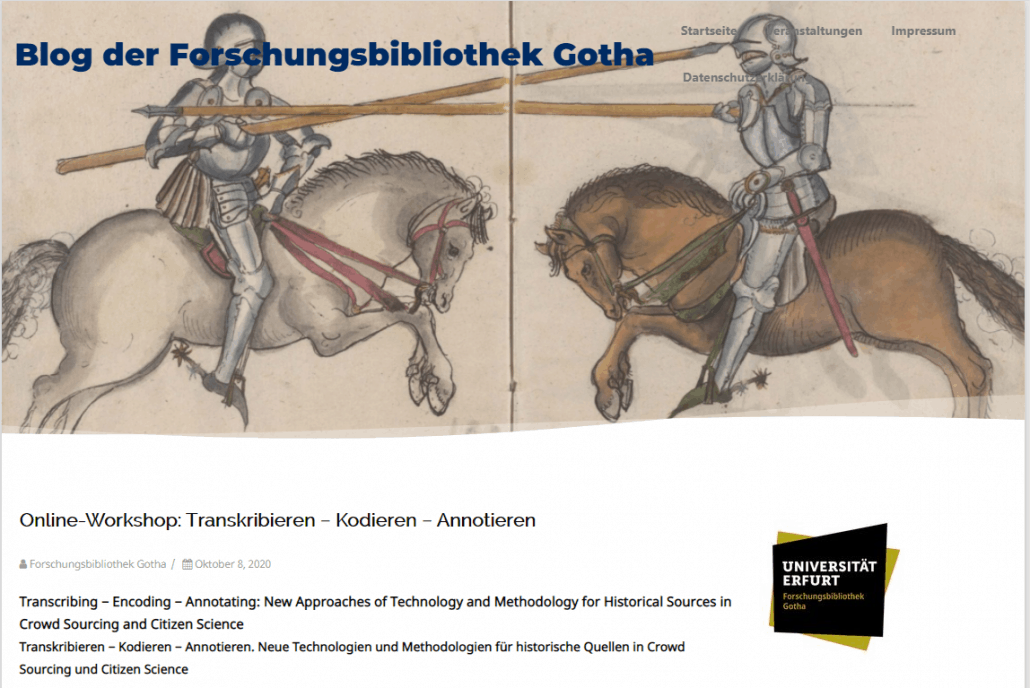 #TEA2020 Online-Workshop: Transkribieren − Kodieren − Annotieren