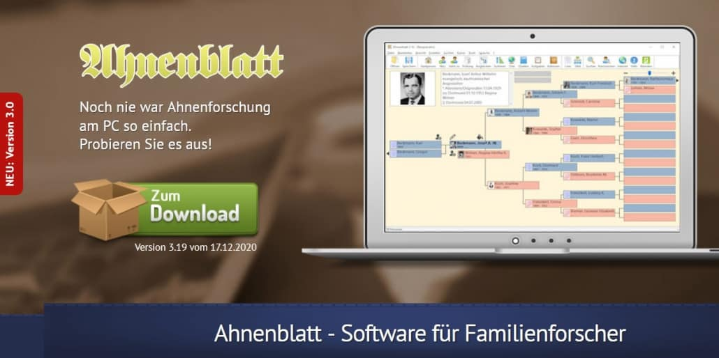 Ahnenblatt Version 3.19